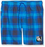 adidas Jungen Check Mid Length Badeshorts, Blue/Trace Blue, 176