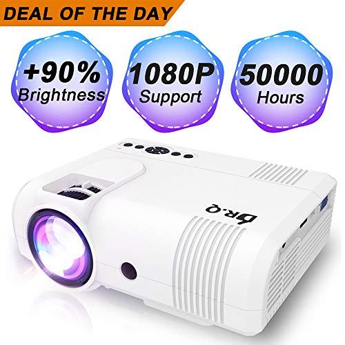 DR.Q Proyector, Mini Proyector 3600 Lumens, Videoproyector Soporta 1080P Full...