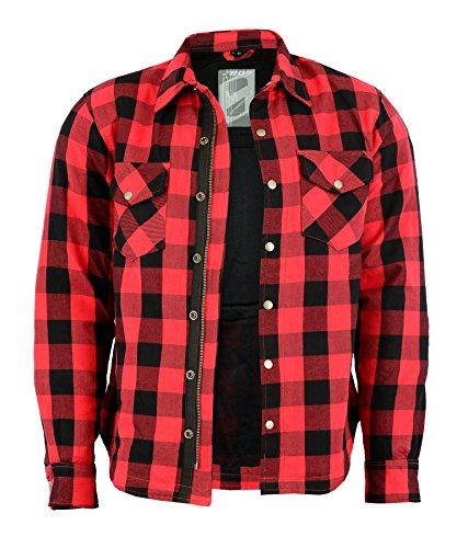 Preisvergleich Produktbild Lumberjack Jacken-Hemd, Rot-Schwarz Kariert, (L, GRAU)