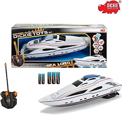 RC Motorboot Sea Lord, 2-Kanal Funkfernsteuerung, 27MHz Frequenz, 34cm: Spielzeug Sea Lord Ferngesteuertes Boot Modellboot von Hummelladen