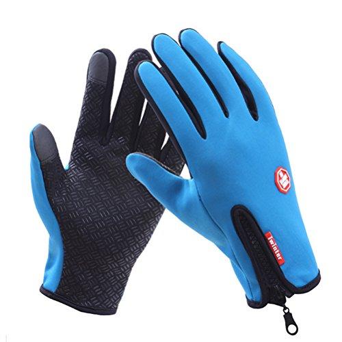 Belldan Unisex Wasserdichter Smartphone Touchscreen Handschuhe Winter Fahrradhandschuhe Laufhandschuhe Sporthandschuh mit Touchscreen Funktion