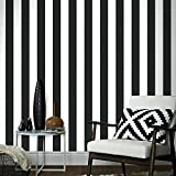 Graham & Brown Superfresco Easy Lynn Stripe Black/White Wallpaper 33-184-master