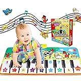 WOSTOO Tappeto Musicale, Tappetino per Pianoforte Tappetino per la Musicale Baby Educazione Precoce 8 Suoni, Tocco Giocattoli Pianoforte Piano Musicale Giocattoli per Bambini Regalo per Bambini