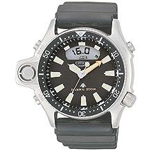 Citizen Herrenuhr PROMASTER-AQUALANDJP2000-08E - Reloj analógico - digital de cuarzo para hombre, correa de goma color negro