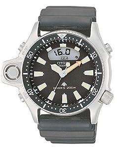Citizen Herrenuhr PROMASTER AQUALANDJP2000 08E Reloj anal gico digital de cuarzo para hombre correa de goma color negro