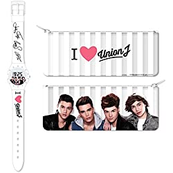Union J Children's Quartz Digital Display Watch with White Dial and White Plastic Strap UJ28SET