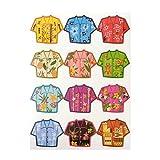 trendaffe Hawaii Shirt Glasmarkierer im 12er Set - Hawaii Hemd Glasmarker Glasmarkierung