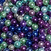 TOAOB 500 Pieces 6mm Round Glass Pearl Beads Assortment Mixed 10 Colors for Jewelry Making