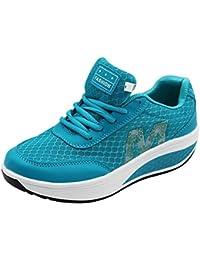 uirend Adelgazar Sneakers Zapatillas Plataforma - Mujer Caminar Transpirable Zapatillas de Deporte Fitness Cuñas Peso Ligero