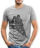 Spreadshirt Eishockey Terminologie Ice Hockey Begriffe Männer Premium T-Shirt, L, Grau meliert