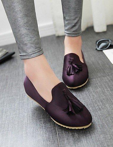 ZQ gyht Scarpe Donna - Mocassini - Tempo libero / Casual - Punta arrotondata - Piatto - Finta pelle - Nero / Marrone / Borgogna / Tessuto almond , purple-us8 / eu39 / uk6 / cn39 , purple-us8 / eu39 /  purple-us5.5 / eu36 / uk3.5 / cn35