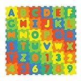 36 Stk Puzzlematte Bodenpuzzle ABC und Zahlen ab 10 Monate 16x16 cm