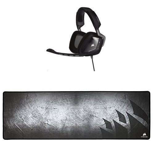 Corsair Auriculares Gaming VOID para PC (USB) + Alfombrilla Gaming MM300 antisgaste...