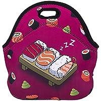 Artone Sushi Aislado Gastrónomo Bolsa Del Almuerzo Impermeable Neopreno Caja De Almuerzo Caja De Contenedor Rosa