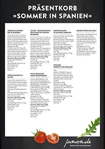 Feinkost-Präsentkorb Sommer in Spanien | Geschenkkorb gefüllt mit Sangria & spanischen Delikatessen | 7-teiliges Geschenk-Set ideal für Frauen & Männer