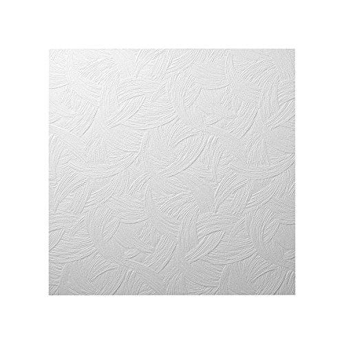 DECOSA Styropor Deckenplatten AP 105 (ZAGREB) in Putz Optik - 80 Platten = 20 m2 - Edle Deckenpaneele weiß - Dekor Paneele 50 x 50 cm - Decken Styroporpaneele -