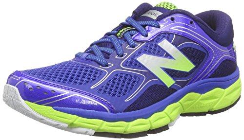 New Balance W860v6, Chaussures de Running Entrainement Homme Bleu (Blue/Yellow)
