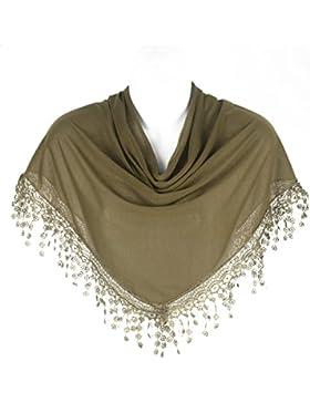 Bufanda Triangular Con Estilo De Encaje De Bolillos Para Mujer