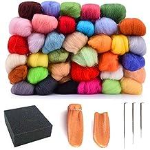 134c8fe799dbf artec360 Merino lana itinerantes de fieltro aguja Kits 40 color 3 G 0.1oz  por