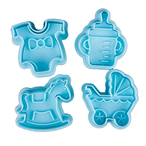 Chen Rui(TM Kuchen Baby Spielzeug Dekor Zucker Paste Loaf Sugarcraft Plunger Fondant Cutter Tool