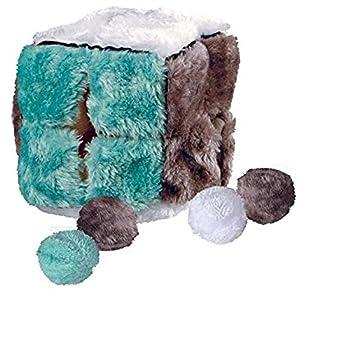 Trixie Cube en Peluche 4104 avec 4balles d?Herbes aux Chats, 14cm