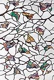 DPS&RXX Selbstklebend Blickdicht Privatsphäre Glasdekorfolie, Ohne Klebstoffe Anti-uv Fensterfolie Selbstklebend Milchglasfolie, Für Haus & Küche & Büro Badezimmer,90(35.34in)*100cm(39.37in)