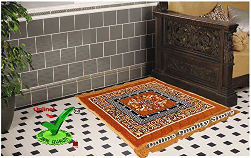 Online Quality Store Perfect Pooja Aasan (2*2 Foot /24*24 Inches, Multi,Cotton,Medium)  available at amazon for Rs.99