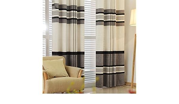 Gardinen minimalistische schwarze und weiße streifen halbes licht