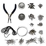 Kurtzy Schmuckherstellung Kit, mit Zange, Nickelfrei, Schmuckzubehör Startset, Schmuck Perlen und Reparaturwerkzeuge, mit Zubehör für Ohrringe, Halsketten, Armbandherstellung
