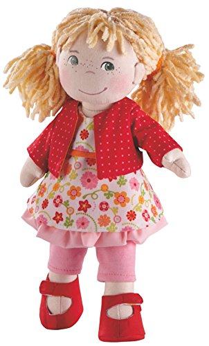 Haba 2176 - Puppe Milla, süße Stoffpuppe mit Kleidung und Haaren, 30 cm, Spielzeug ab 18 Monaten - Für Puppen 18 Mädchen