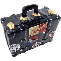 Tirelire valise noir Tirelire humoristique dans un coffret design, original Tirelire voyage Kassa