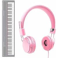 DURAGADGET Auriculares De Diadema En Rosa para Teclado/Piano Eléctrico Yamaha NP-V80 NPV