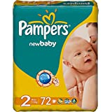 Pampers - New Baby Dry Taille 2 - Lot De 144 Couches(2X72) 3-6Kg