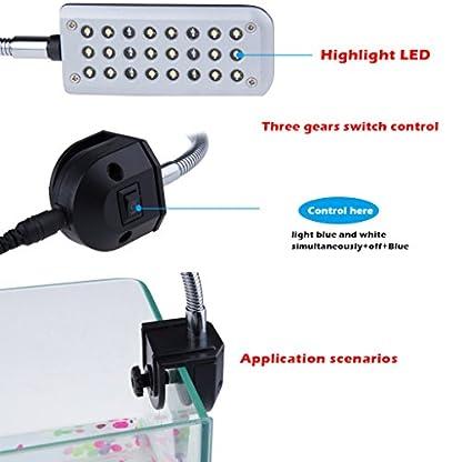 Kasstino 24 LED/48LED Highlighting Aquarium Light Fish Turtle Tank Light Clip Light Lamp (48LEDs) 4
