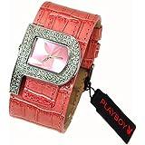 Playboy Pink Strap Ladies Designer Fashion Cuff Watch PB0189PK
