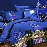 FGKLU Bettwäsche Bettbezug 3 Teiliges Set (1 Bettbezüge, 2 Kissenbezug), Ultraweiche Doppelt Gebürstete Mikrofaser, King (200 * 230 cm)