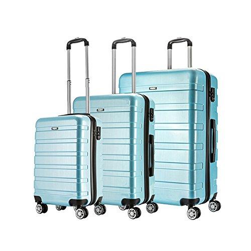 AMASAVA-Set of Tres Maletas Juego de Maletas Rígidas,Candado TSA, ABS+PC,4 Ruedas multidireccional,...