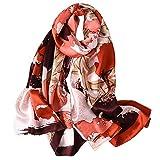 STORIA DI SHANGHAI Sciarpa Donna Colorata Seta 100% Leggera Elegante Taglio Manuale Migliore Regalo Per La Tua Signora 170 * 55 CM