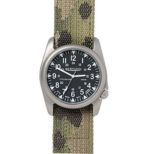 Bertucci 13443uomo Multicam nylon fascia nera quadrante orologio intelligente