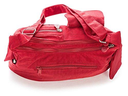 Big Handbag Shop di dimensioni medie borsa a tracolla Unisex in plastica Pouch Rosso (Rosso)