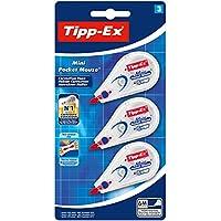 Tipp-Ex Mini Pocket Mouse Korrekturroller – Korrekturband 6m x 5mm – Blister à 3 Stück, Weiß