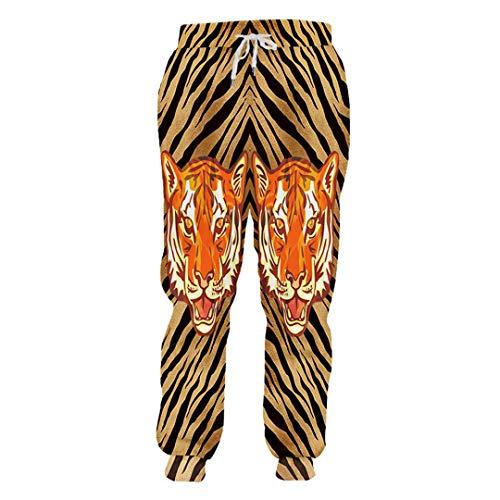 DE-pants-personality Hosen Mode Tier Jogginghose 3D Gedruckt Tiger Lose Große Größe Kostüm Frau Hose Tiger - Womens Rost Kostüm