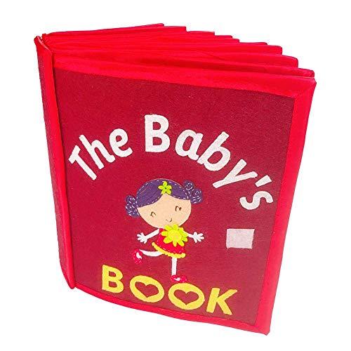 Baby-Tuch-Bücher, Quiet Buch, Tactile Buch für Kinder, Buch Dreidimensionales Handbuch für Illustrated Books In Nonwoven zu Büchern der kognitiven Entwicklung,Rot