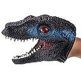DOGZI Simulación Dinosaurio Modelo Marionetas de Mano Decoración Silicona Cabeza de Dinosaurio Guantes