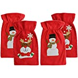 COM-FOUR  Sacco Di Natale e sacchetto regalo in diversi motivi e colori