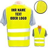Personalised safety vest according to ISO 471 for private and commercial use * own logo name picture * Class 2/2 safety vest