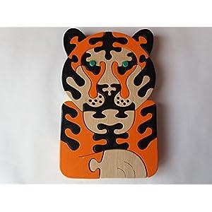 Holz Puzzle spiel tiger handarbeit Raubtierspielzeuggeschenk des wilden Tierdschungeltieres katzenartiges für großes…
