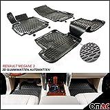 Omac GmbH Allwetter Auto Hohe 3D Gummimatten Fußmatten Automatten Schwarz 4 Teilig