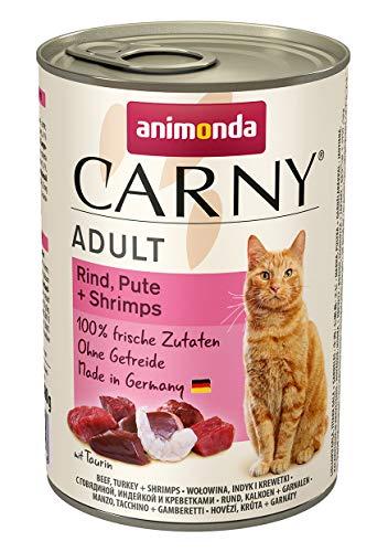 Animonda Katzenfutter Carny Adult Mix2 aus 4 Varietäten, 12er Pack (12 x 400 g) - 4