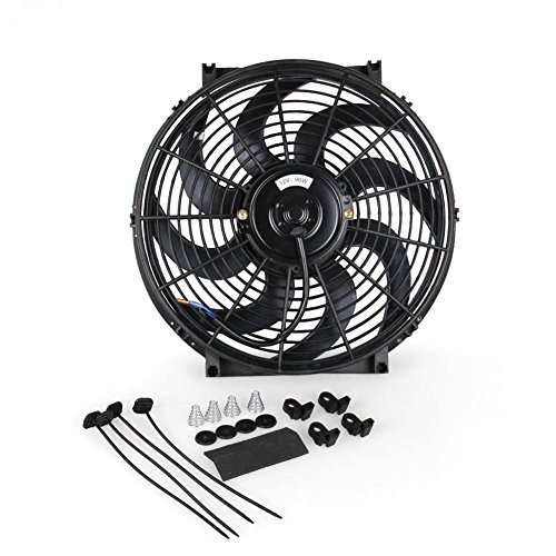 Kühlerlüfter 12v kühlerventilator 14'' universal 90W Pull/Push Schwarz (90 Cfm-motor)
